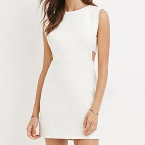 F21 Textured White Dress (MEDIUM)